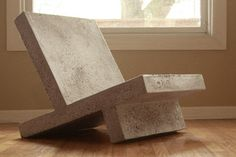 lightweight concrete furniture by Zachary Design