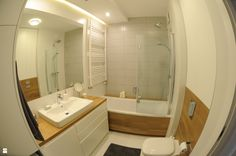 Stonowana kolorystyka - zdjęcie od Dizajnia art - studio projektowe - Łazienka - Styl Minimalistyczny - Dizajnia art - studio projektowe Bathroom Inspiration, Bathroom Ideas, Malaga, Corner Bathtub, Alcove, Sweet Home, Studio, Design, Flat