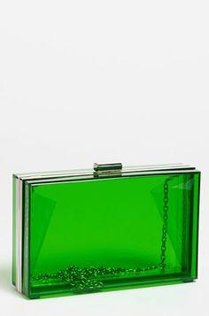 Clear Box green clutch