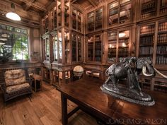 home library - Jim Cardon Custom Woodworking Steampunk Shop, Steampunk Accessoires, Library Room, Dream Library, Steampunk Architecture, Home Office, Library Inspiration, Library Ideas, The Illusionist