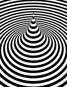 black and white optical art - Yahoo Image Search Results Illusion Paintings, Illusion Drawings, Cool Optical Illusions, Art Optical, Illusion Kunst, Illusion Art, Op Art Lessons, Illusion Pictures, 3d Art Drawing