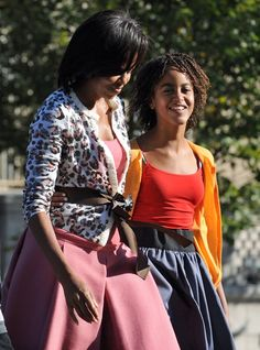 Pin for Later: Sasha and Malia's Cutest Moments With Mom Michelle