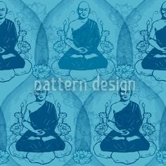 Calm Down With Buddha Seamless Vector Pattern Pastel Colors, Bold Colors, Calm Down, Water Lilies, Lace Design, Vector Pattern, Vector File, Surface Design, Buddha