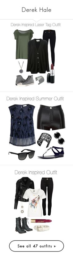 """Derek Hale"" by samtiritilli666lol ❤ liked on Polyvore featuring Dries Van Noten, Ray-Ban, Lynn Ban, Ralph Lauren Collection, Kenneth Jay Lane, River Island, Topshop, Element, Mossimo Supply Co. and House of Harlow 1960"
