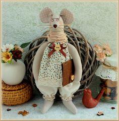 fabric soft mouse stuffed Toy Animal Softie  handmade toy cloth toy  rag doll…