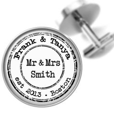 Hey, I found this really awesome Etsy listing at http://www.etsy.com/listing/125990632/personalized-wedding-cufflinks-vintage