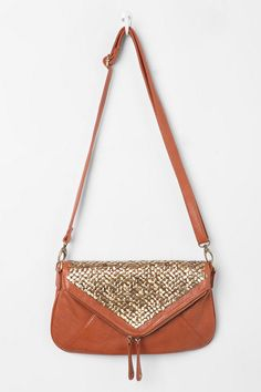 Kimchi Blue Double-Zip Tack-Stud Envelope Bag  #UrbanOutfitters