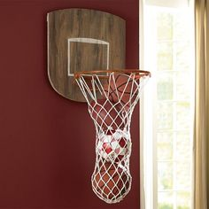 Shop Sports Wall Organization from Pottery Barn Teen. Our teen furniture, decor and accessories collections feature fun and stylish Sports Wall Organization. Create a unique and cool teen or dorm room. Indoor Basketball Hoop, Basketball Bedroom, Indiana Basketball, Basketball Baby, Basketball Court, Basketball Sneakers, Teen Wall Decor, Sports Storage, Ball Storage