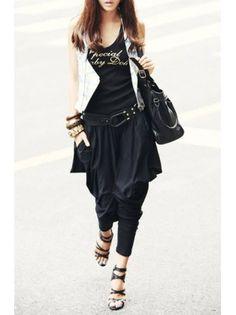 Black Harem Couture Loose Pants