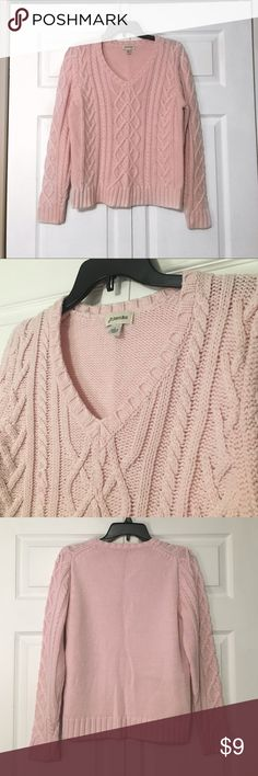 Cute Pink Sweater Never worn! No damage! It's very warm and soft. Let me know if you have any questions. St. John's Bay Sweaters V-Necks