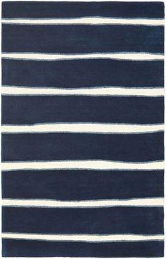 Safavieh Martha Stewart Chalk Stripe Navy Rug | Contemporary Rugs