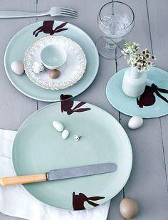 Bunny plates... I really like the color scheme