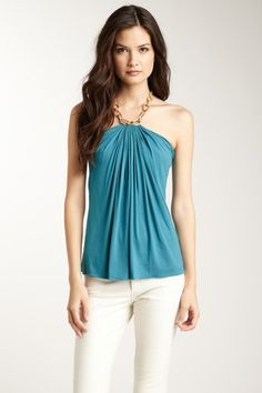 Have white jeans and very similar top in dark blue from White House Black Market. :)