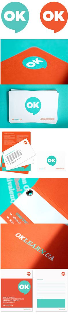 Matter: OKLearn.ca Identity and Collateral | Design Work Life