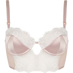 dc56237f9c9a7 TOPSHOP Satin and Lace Bralet ( 45) via Polyvore featuring intimates