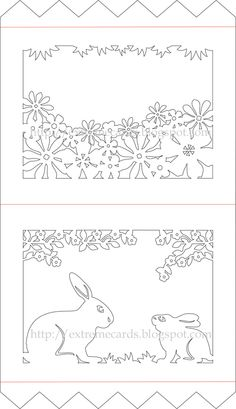 Easter Rabbits Tent Card
