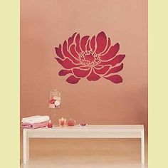 Anemone flower stencil