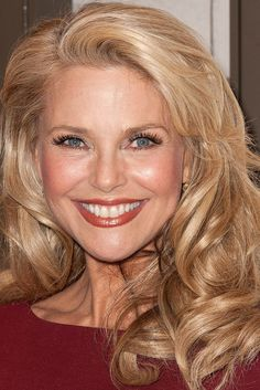Christie Brinkley is 60!(she might be a few years younger in this pic like 58) but WOW. Yeah she is wearing makeup but she doesn't look overly made up or botox-ed(like some people do) This is healthy living plain and simple.