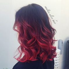 Red Balayage & Hair Highlights Picture Description Hair Inspiration — Black to red ombre by candicealice ♥ - Dyed Red Hair, Ombre Hair Color, Cool Hair Color, Ombre Style, Hair Colors, Best Ombre Hair, Brown Ombre Hair, Black To Red Hair, Black Hair Red Ombre