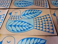 Hurray, spring is here at last and to celebrate warmer weather and longer daylight hours I have been screen-printing a new flower desig. Linoleum Block Printing, Scandinavian Folk Art, Floral Artwork, Little Birds, Native American Art, Bird Art, Quilting Designs, Painting Inspiration, Screen Printing
