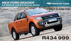 Limited stock! Available at BB Ford Menlyn - Call De Wet now! Tel 012 368 8000 * T & C apply - http://www.autofind.co.za/offer/New%20Ford%20Ranger%203.2%20Wildtrak%20*%20Only%204%20Available!%20*%20T%20&%20C%20apply%20*%20Available%20at%20BB%20Menlyn%20Ford-39.html
