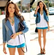 I definitely want to try a pair of turquoise shorts this summer :))))