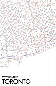 Typographic Toronto map