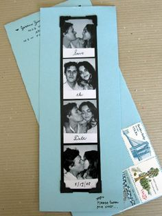 Very inexpensive yet creative alternative for the STD card. Have your photos taken at a photo booth (very inexpensive), order multiple prints, paste the strips on a piece of card board and mail 'em to your guests