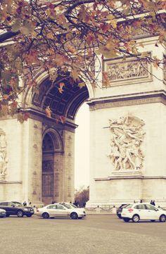 Arc de Triomphe, Paris. Round and round we went!