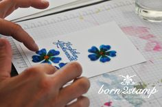 STAMPIN' UP! born2stamp Dankeskarte - stained crystal - Flower Shop - Crystal effects - Stampin' Glitter Diamantgleissen - Grusselemente