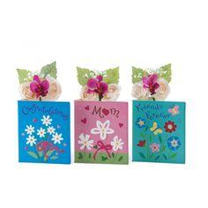 Sentimential Greeting Card Vases