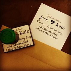 Be unique, use a #rubberstamp to create your own #wedding invitations. We hope this couple didn't fly Oceanic for their honeymoon! #Lost