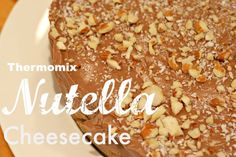 The easiest, quickest and most delicious cheesecake you'll ever make. Other Recipes, Sweet Recipes, Best Nutella Recipes, Bellini Recipe, Shortbread Biscuits, Nutella Cheesecake, Thermomix Desserts, Everyday Food, Food To Make