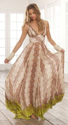 Sweet Flowing Beach Dress:
