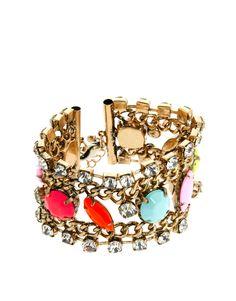 Colour Stone Chain Bracelet
