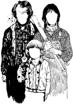 Jack, Wendy, and Danny Torrance
