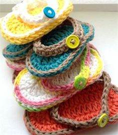 Crochet Baby Sandals free pattern: The Original Bizzy Crochet