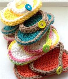 The Original Bizzy Crochet - Free flip flops for babies pattern