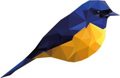 Low Poly Bird GIF Experiment by Tom Roest, via Behance