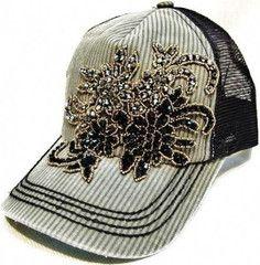 Olive & Pique Stripe Paisley Bling Trucker Hat | 2Die4Boutique.com
