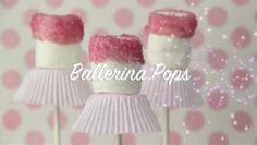 Ballerina Pops - adorable treat for little dancers