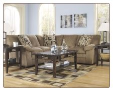 14402 PCS Renick Brown Right Arm Facing Sectional Set By Ashley Design