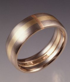 "Jonathan's Ring by tommccarthyjewelry, via Flickr  18K White, yellow and rose gold  3/4"" x 3/4"" x 1/4"" approx.  1997  http://www.tommccarthyjewelry.com/"