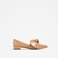 ZARA - COLLECTION SS/17 - FLAT SHOES WITH BOW DETAIL