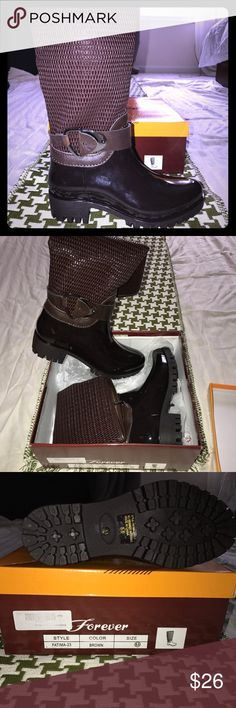 Dark brown boot Dark brown almost burgundy under knee rain boot (price is negotiable) Shoes Winter & Rain Boots