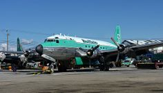 Buffalo Airways, Douglas DC-4 (C-GBNV), Air Tanker 56, at Yellowknife Airport NWT