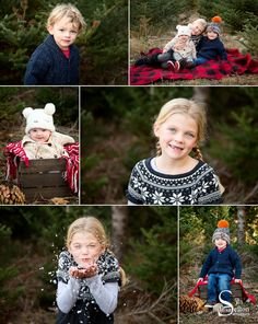 Our outdoor holiday portrait photography event at a local tree farm #christmas #photo