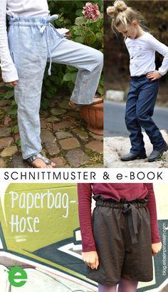 Papiertüte, die Paperbag-Hose für Mädchen & Teenies - Erbsenprinzessin Blog Paperbag Hose, Kind Mode, Parachute Pants, Blog, Sewing, Fashion, Light Jeans, Rock Girls, Dressmaking