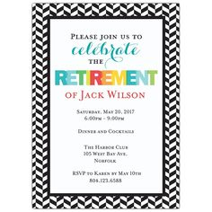 Classic Gold Effect Retirement Party Invitation Template Pinterest