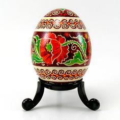 I Love Poppies - Real Handmade Traditional Ukrainian Chicken Egg